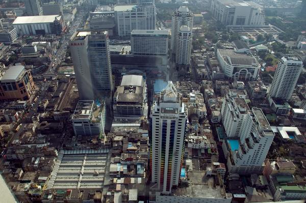 Вид из окна в Baiyoke Sky Hotel (71 этаж)